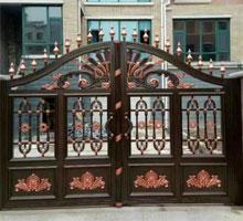 青岛胡先生铸铝庭院大门