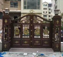 庆阳王先生铸铝庭院大门