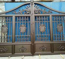 太原李先生铸铝庭院大门