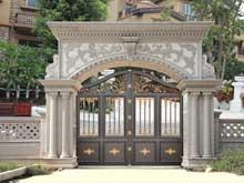 铸铝别墅庭院大门案例