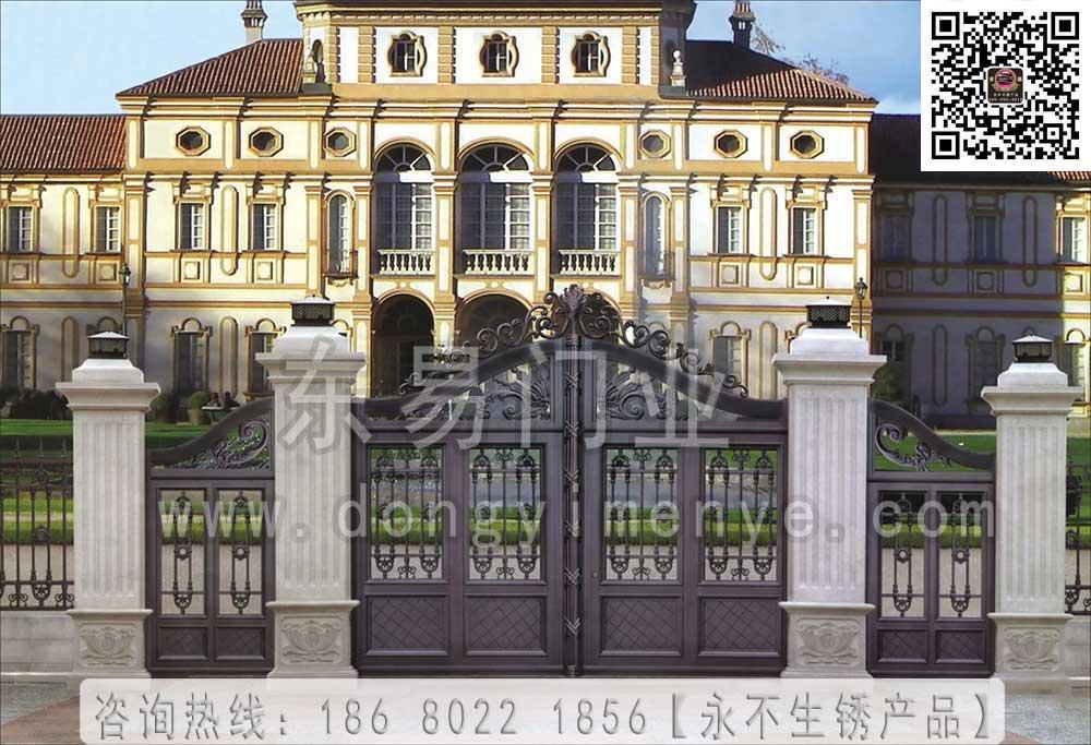 中式别墅大门效果图