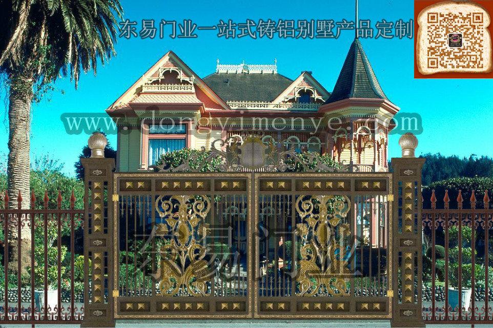 别墅铸铝大门效果图