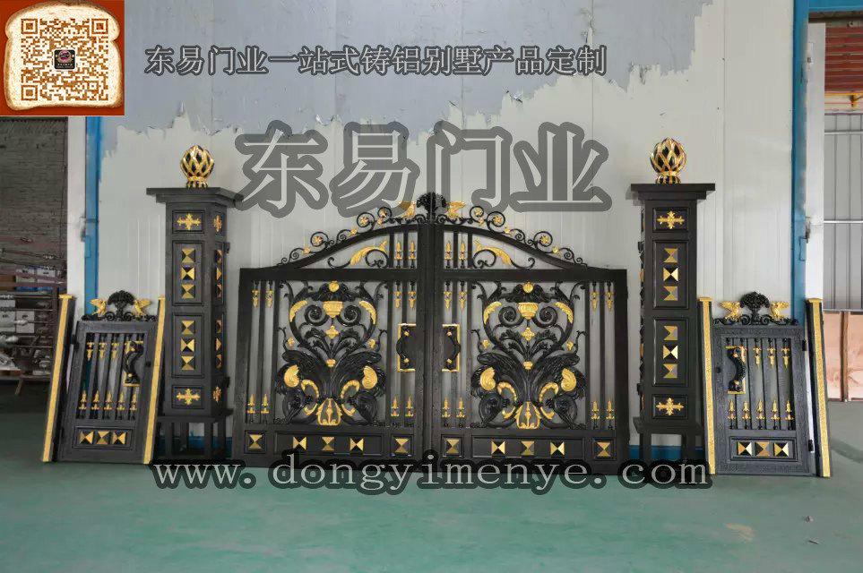 别墅铸铝庭院门产品图