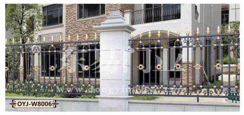 铸铝门:建程东易2017年欧式别墅围墙大门效果图
